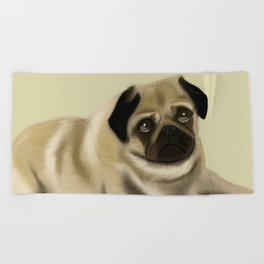 Doug the Pug Beach Towel