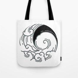 Japanese Circle 5 Big Wave Tote Bag