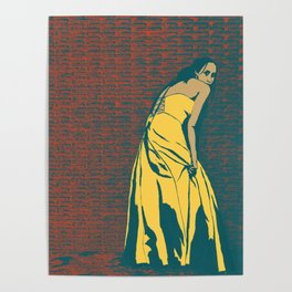 Lady in Yellow Dress Poster