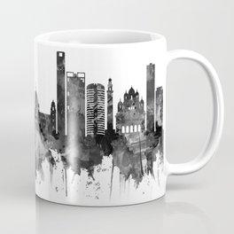Kolkata West Bengal Skyline BW Coffee Mug