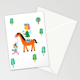 Colorful Cheerful Forest Stationery Cards