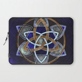 Golden Triskelion Mandala Laptop Sleeve
