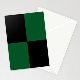 Big mosaic dark green - black Stationery Cards