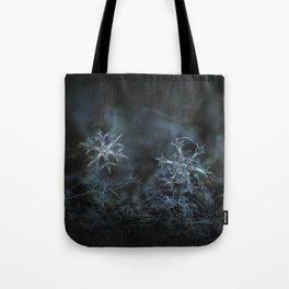 Real snowflake macro photo - When winters meets 2 Tote Bag