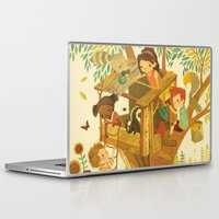 boys Laptop & iPad Skins featuring Our House In the Woods by Teagan White