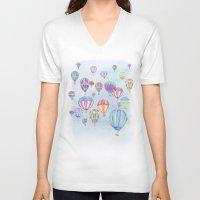 ballon V-neck T-shirts featuring Hot Air Ballon Festival by J Square Presents