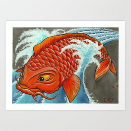 Koi Series, TRADITION! TRADITION! Art Print