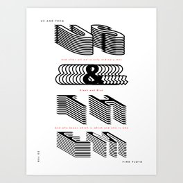 Us and Them - (Song Poster) Art Print
