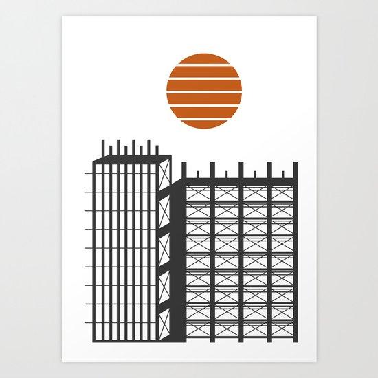 City in construction Art Print