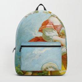Jean-Honore Fragonard - The Grape Gatherer Backpack