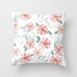 spray of flowers pattern Throw Pillow