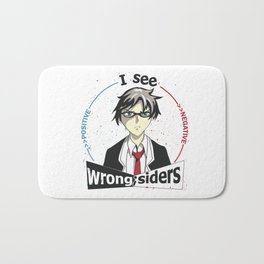 I See Wrong-Siders Bath Mat