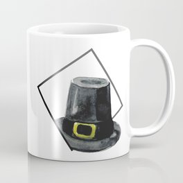 Hat in Square Thanksgiving Minimal Art Coffee Mug