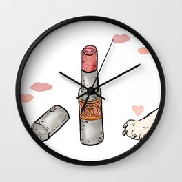 Lippie Love Wall Clock