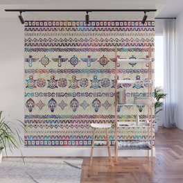 Maya / Aztec Gentle Watercolor pattern Wall Mural