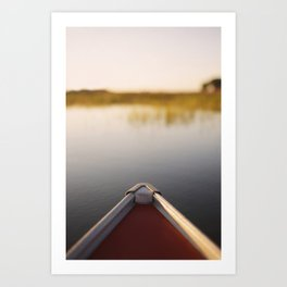 Sunrise Canoe #2 Art Print