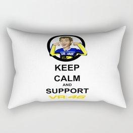 keep calm and support vr46 Rectangular Pillow