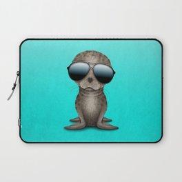 Cute Baby Sea Lion Wearing Sunglasses Laptop Sleeve