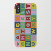 alphabet iPhone & iPod Cases featuring Alphabet by Project M