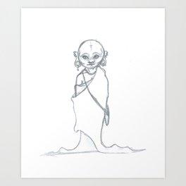 Severe Healing of the Punk Monk Art Print