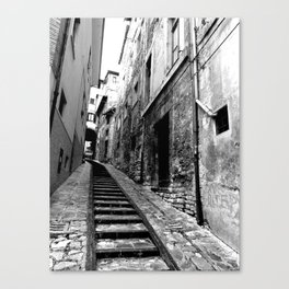 Spoleto, Italy Street Stairs Canvas Print