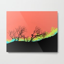 Living Coral Trees silhouette Metal Print