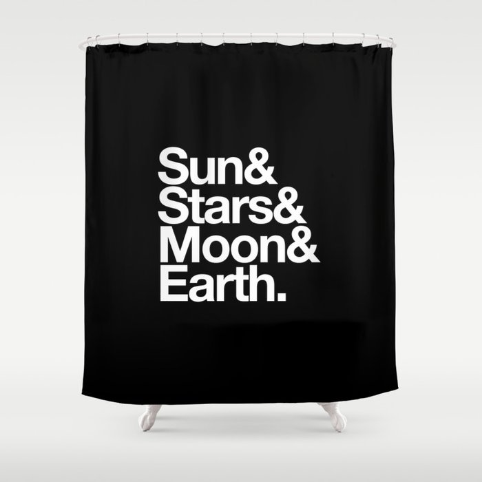 Sun Stars Moon Earth Shower Curtain By Outsidein Society6