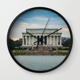 Lincoln Memorial, across Reflecting Pool, Washington, D.C., National Mall Wall Clock