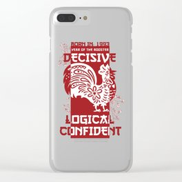 Rooster Chinese Zodiac Sign Horoscope Animal Clear iPhone Case