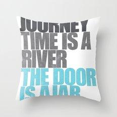 The Door is Ajar Throw Pillow