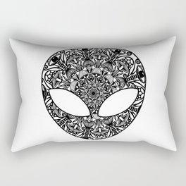 Alien Mushroom Mandala Rectangular Pillow
