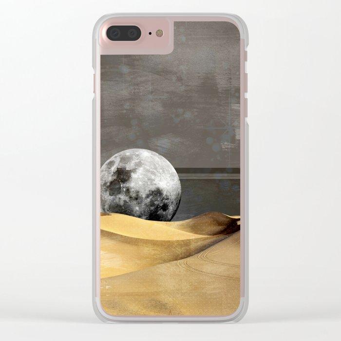 MOON DESERT Clear iPhone Case