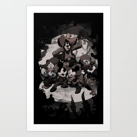HOWDY MICKEY Art Print