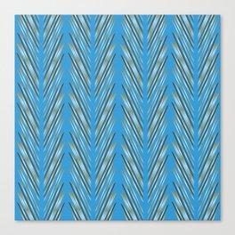 Aqua Wheat Grass Canvas Print