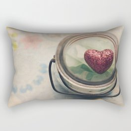 Love in a jar Rectangular Pillow