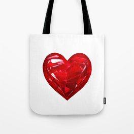 Garnet Heart Tote Bag