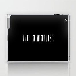 Minimalist text in black and white Laptop & iPad Skin