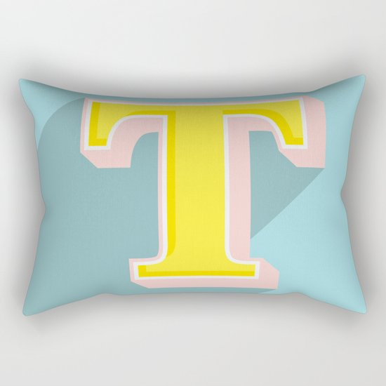 T is for .... Rectangular Pillow