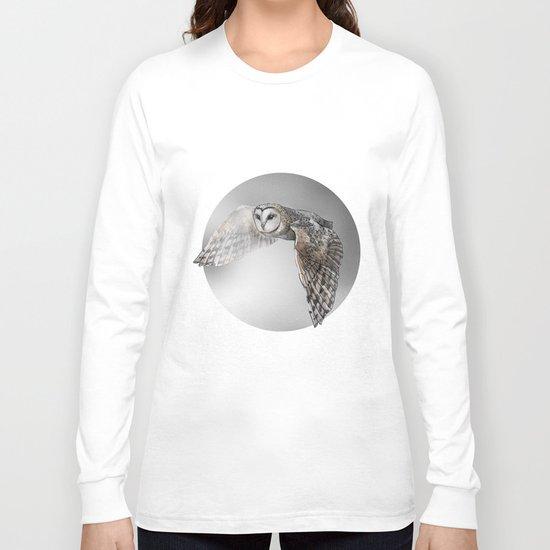 flying owl (tyto alba) Long Sleeve T-shirt