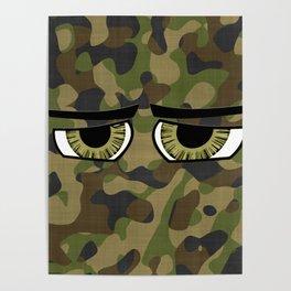 Camo Eyes Poster