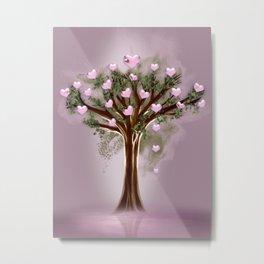 Valentin tree Metal Print