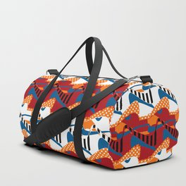 Colorful abstraction print in bright colors Duffle Bag