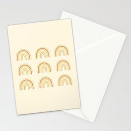 Neutral Rainbows Stationery Cards