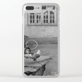 Chickens at home Clear iPhone Case