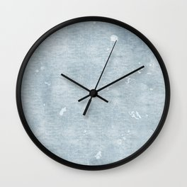 distressed chambray denim Wall Clock