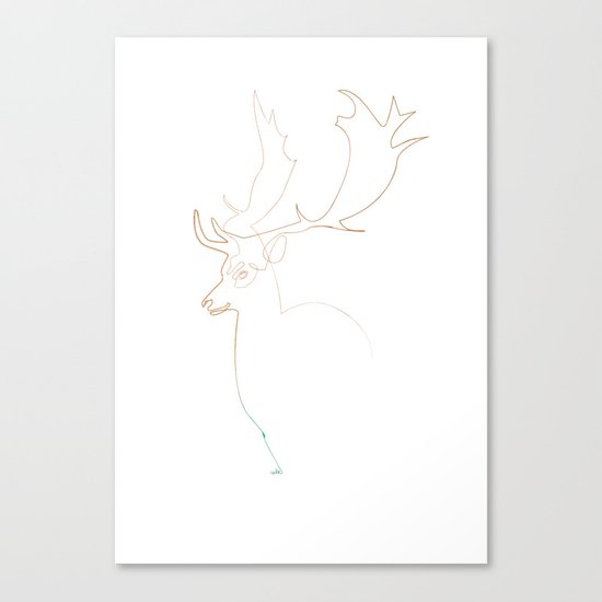 Deer Line Canvas Print