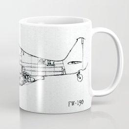 FW - 190 ( B & W) Coffee Mug
