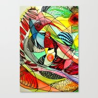 karma Canvas Prints featuring karma by sylvie demers