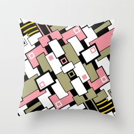 C13D GeoAbstract 2 Throw Pillow
