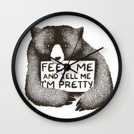 Feed Me and Tell Me I'm Pretty Wall Clock